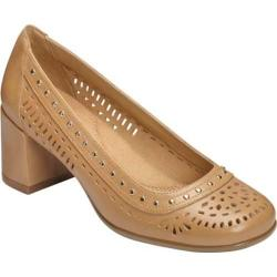 Women's Aerosoles Shine Brite Pump Light Tan Leather