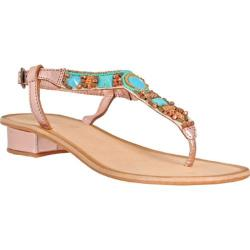 Women's Nomad Mandalay Sandal Rose Gold/Turquoise
