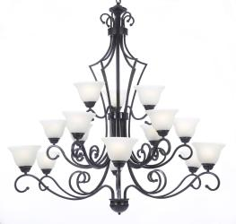 """NEW! FOYER / ENTRYWAY WROUGHT IRON CHANDELIER LIGHTING H51"""" X W49"""""""