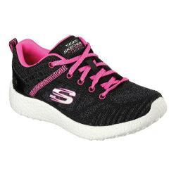 Girls' Skechers Burst Sneaker Black/Hot Pink
