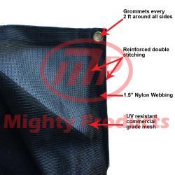 Size: 12 ft. x 14 ft. - Premium 70% Sun Shade, Shade Cloth, Shade Sail (Black Color) (AMN-MS70-B1214)