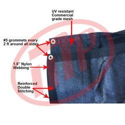 Size: 8 ft. x 24 ft. - Premium 90% Shade Cloth, Shade Sail, Sun Shade (Black Color) (AMN-MS90-B0824)