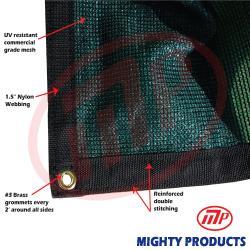 Size: 20 ft. x 20 ft. - Premium 90% Shade Cloth, Shade Sail, Sun Shade (Green Color) (AMN-MS90-G2020)