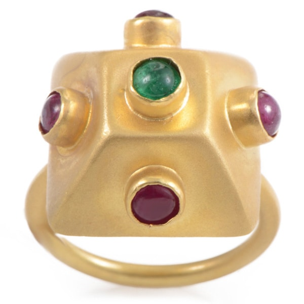 18k Yellow Gold Precious Gemstone Estate Ring (Size 6.25)