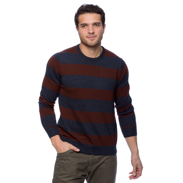 Cullen Men's Merino Wool Striped Crew Sweatshirt