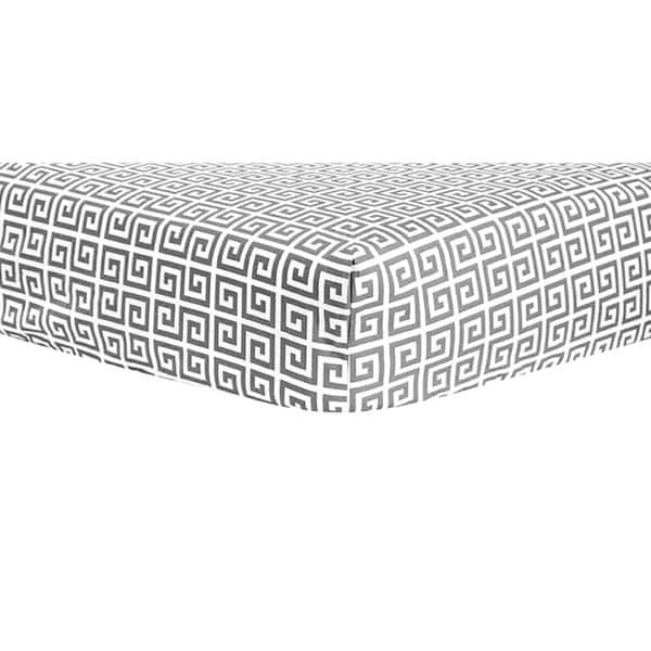 Trend Lab Gray Greek Key Crib Sheet