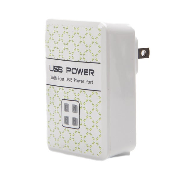 4 Port USB Power AC Adapter For All Smart Phone and Tablets