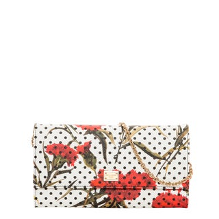 Dolce & Gabbana Dauphine Printed Leather Clutch with Chain
