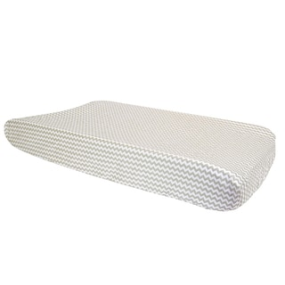 Trend Lab Dove Gray Chevron Changing Pad Cover