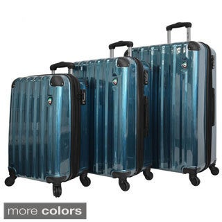 Mia Toro ITALY Spazzolato Lucido Lightweight Hardside 3-piece Spinner Luggage Set