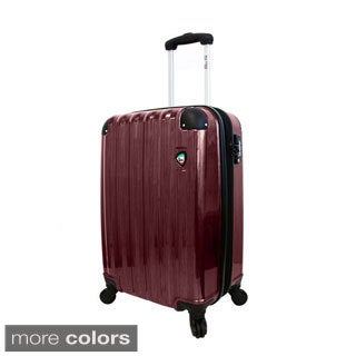 Mia Toro Spazzolato Lucido 21-inch Hardside Carry On Spinner Upright Suitcase