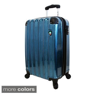 Mia Toro ITALY Spazzolato Lucido 25-inch Lightweight Hardside Expandable Spinner Upright Suitcase