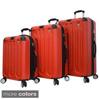 Mia Toro Metallo Lightweight Hardside 3-piece Spinner Luggage Set