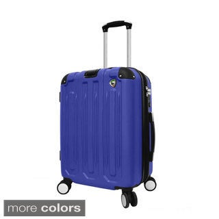 Mia Toro Metallo 20-inch Hardside Carry On Spinner Upright Suitcase