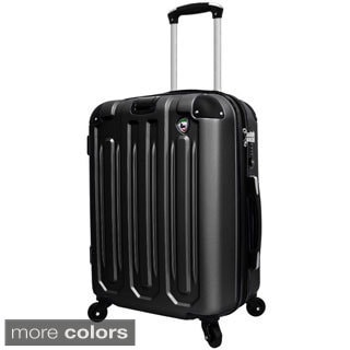 Mia Toro Regale 20-inch Lightweight Hardside Expandable Spinner Carry On Suitcase