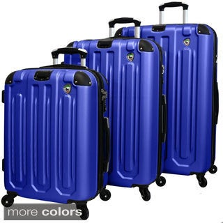 Mia Toro Regale Lightweight Hardside 3-piece Spinner Luggage Set