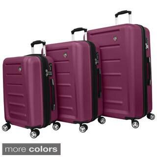 Mia Toro ITALY Moderno Lightweight Hardside 3-piece Spinner Luggage Set