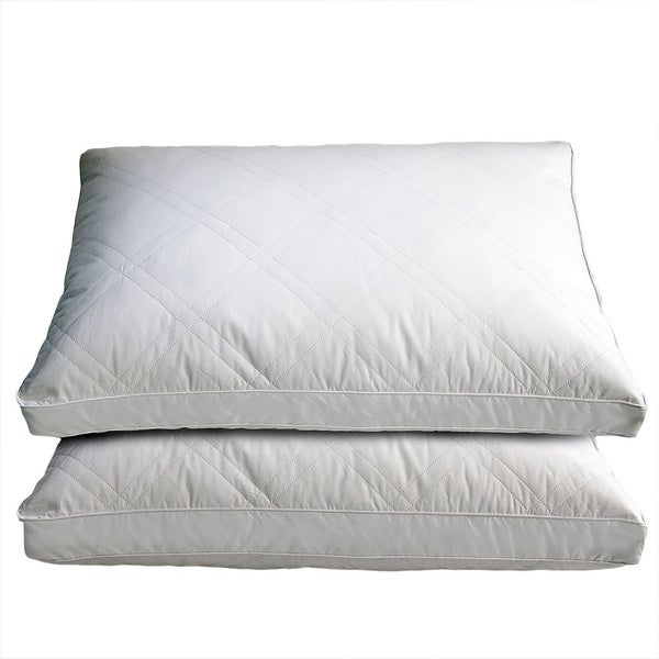 White Goose Feather and Down Pillows (Set of 2)
