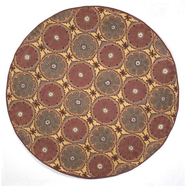 Ornamental Circles Outdoor Rug (8' RD)