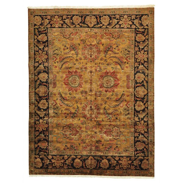 Golden Age Rajasthan Oriental Rug Hand Knotted (8'10 x 11'10)