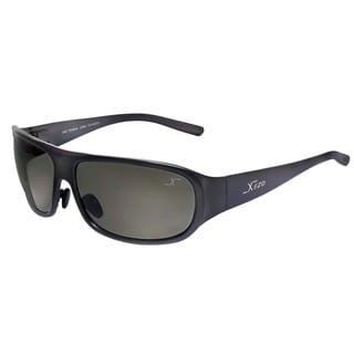 Xezo Mens Incognito Titanium Polarized Wrap Sunglasses
