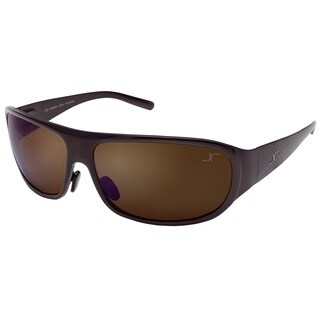 Xezo Mens Incognito Titanium Polarized Wrap Sunglasses