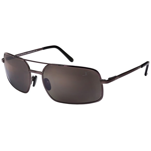 Xezo Mens Air Commando Titanium Polarized Sunglasses