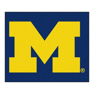 Fanmats Machine-Made University of Michigan Blue Nylon Tailgater Mat (5' x 6')