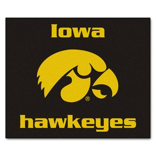 Fanmats Machine-Made University of Iowa Black Nylon Tailgater Mat (5' x 6')
