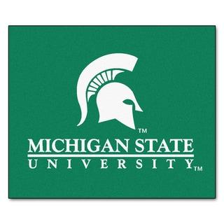 Fanmats Machine-Made Michigan State University Green Nylon Tailgater Mat (5' x 6')