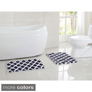 Davenport Non-Slip Thermoplastic 2-piece Bath Rug Set