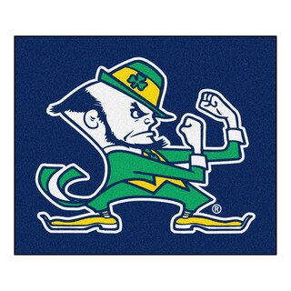 Fanmats Machine-Made Notre Dame Blue Nylon Tailgater Mat (5' x 6')