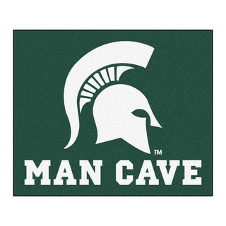 Fanmats Machine-Made Michigan State University Green Nylon Man Cave Tailgater Mat (5' x 6')