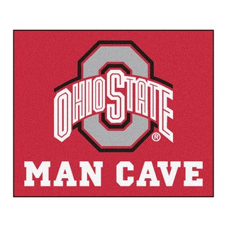 Fanmats Machine-Made Ohio State Red Nylon Man Cave Tailgater Mat (5' x 6')