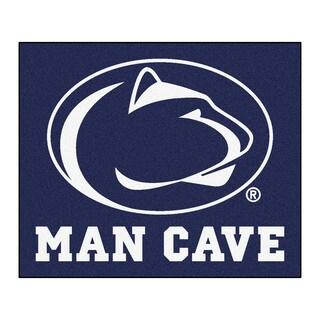 Fanmats Machine-Made Penn State Blue Nylon Man Cave Tailgater Mat (5' x 6')