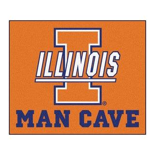 Fanmats Machine-Made University of Illinois Orange Nylon Man Cave Tailgater Mat (5' x 6')
