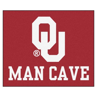 Fanmats Machine-Made University of Oklahoma Red Nylon Man Cave Tailgater Mat (5' x 6')