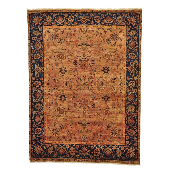 Golden Age Collection Agra Hand Knotted Oriental Rug (7'10 x 10'9)