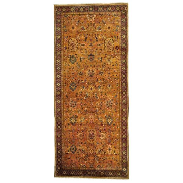 Golden Age Rajasthan Gallery Size Handmade Oriental Rug (6'1 x 14'2)