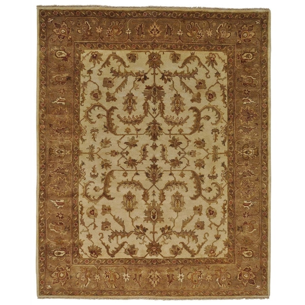 Agra Full Pile All Over Design Hand Knotted Oriental Rug (8'1 x 10')