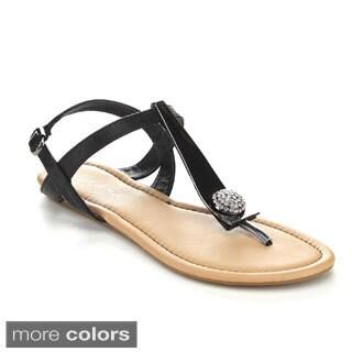 Liliana Women's Bianca-8 T-Strap Sandals
