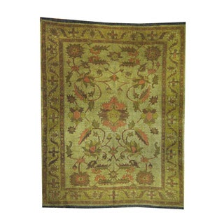 Herat Oriental Afghan Hand-woven Tribal Soumak Kilim Gold/ Brown Wool Rug (6' x 7'7)