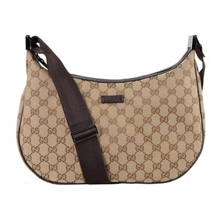 Gucci Tan GG Hobo Shoulder Bag