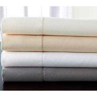 Luxury Estate 6-piece 1200 TC Cotton Rich Hemstitch Solid Sheet Set
