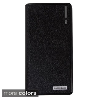 Black and White 15,000Mah High-Capacity Dual-Usb External Battery Pack
