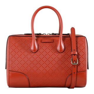 Gucci GG Imprime Leather Satchel