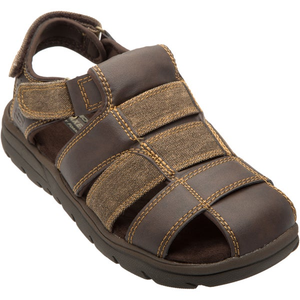 Skechers USA Relaxed Fit 360 Memory Foam Closed Toe Fisherman Sandal