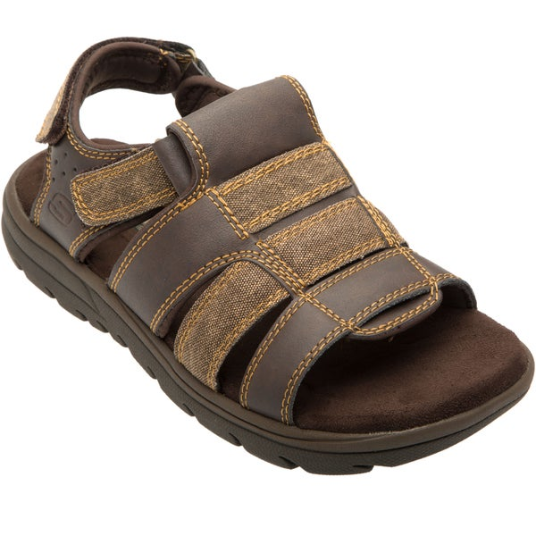 Skechers USA Relaxed Fit 360 Memory Foam Open Toe Fisherman Sandal