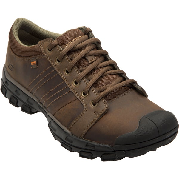 Skechers USA Relaxed Fit Leather Upper Memory Foam Footbed Rubber Toe Cap Shoes