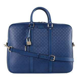 Gucci Diamante Leather Briefcase